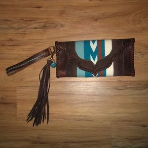 HANDMADE LEATHER SERAPE CLUTCH WALLET⚡️🌵